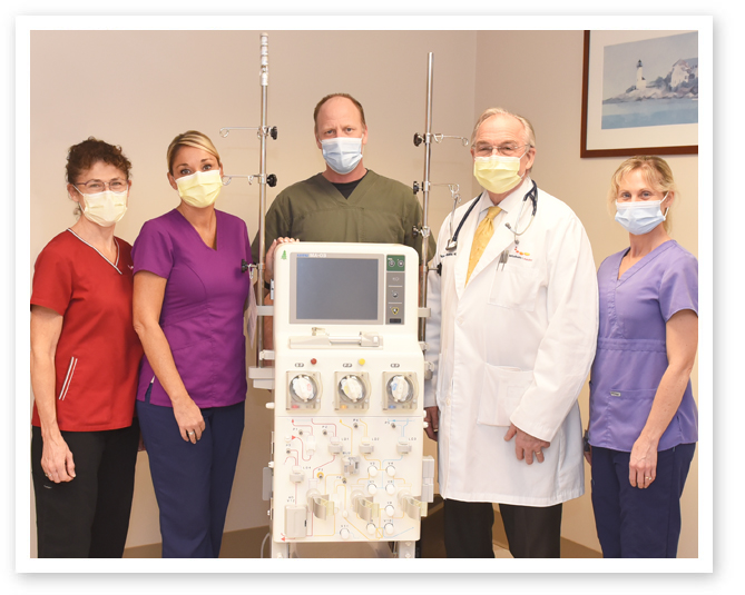 Apheresis Machine & Staff